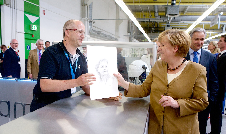 GE, Merkel, 130Jahre